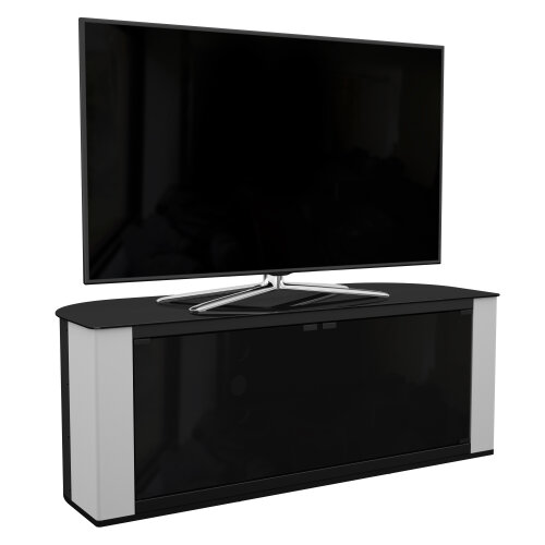 (Pebble Grey) Mahara Corner TV Stand- 120cm - for TVs up to 60""