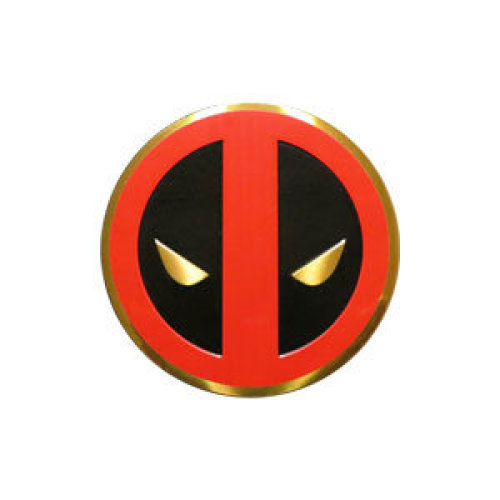 Sticker - Marvel - Deadpool - Icon on Gold Metal 3cm New Toys s-mvl-0031-m