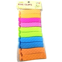 BAG CLIPS PACK OF 10PC ASSORTED COLOURS
