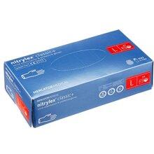 Mercator Nitrylex Classic Disposable Gloves Powder Free 100Pcs Blue L