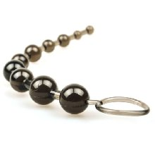 Black Sassy 10 Beads Anal Toy