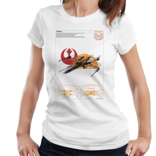 Star Wars X Wing Starfighter Orthographic Women's T-Shirt