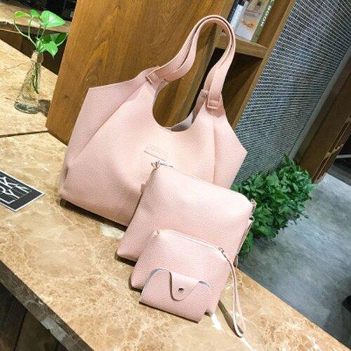 4pcs Fashion Women Handbags Shoulder Tote Bags