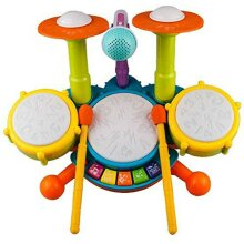 Baby Kids Electric Drum Kit Musical Instruments with Microphone Toys