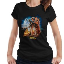 Back To The Future III Characters Get Out Of Delorean Women's T-Shirt