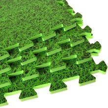 Abaseen Eva Interlocking Foam Floor Mats(Green, 12 Mats-(48 Sq Ft))