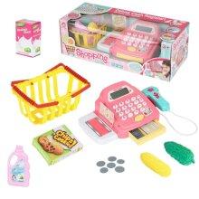 Supermarket Kids Cash Register Toy Gift Child Girl Shop Role Play Pink