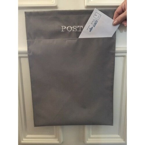 (Grey) Mail Catcher Letter Box Bag | Letter Catcher Bag
