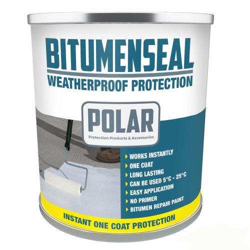 Polar Bitumenseal Bitumen Roof Repair Paint - 5KG   Waterproof Roof Paint
