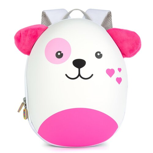Boppi Tiny Trekker Kids Backpack Travel Holiday Bag 4 Litre Rucksack  - Pink Dog
