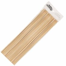 Bamboo Stick Masters 100 x 40cm Wooden Skewers Sticks Extra Long Strong For BBQ Barbecue Kebab Marshmallow Roasting Chocolate Fountain Campfire Fondue