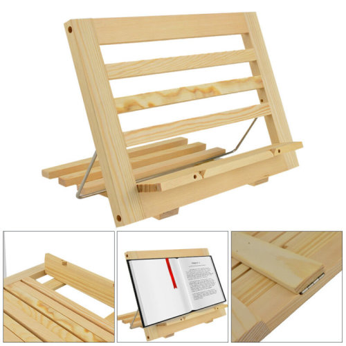 Adjustable Wooden holder For iPad Tablet books stand Reading Stand