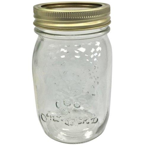 Set of 12 Glass Screw Top Preserve Jars Jam Pickle Chutney Jar 2 Part Lid