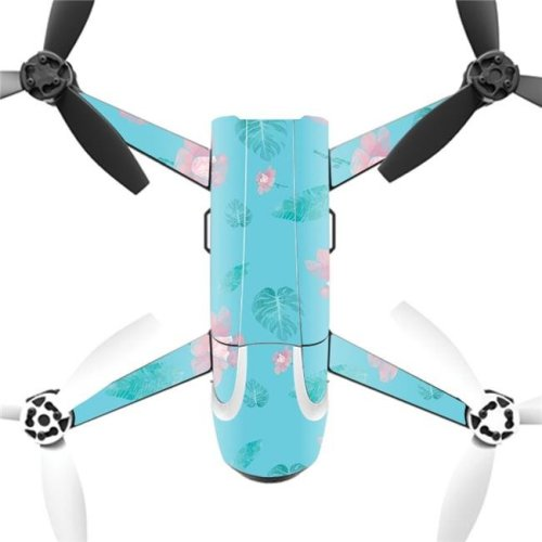 MightySkins PABEBOP2-2Flower Power Blue Skin Decal Wrap for Parrot Bebop 2 Quadcopter Drone - Flower Power Blue