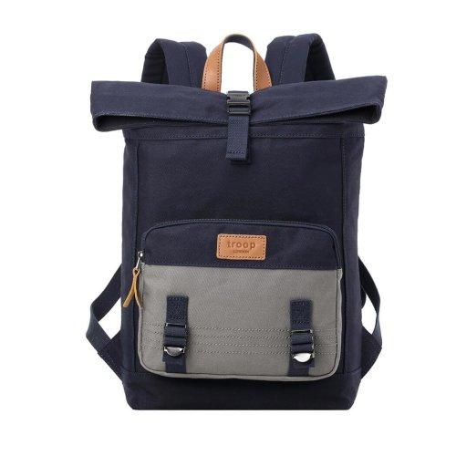 TRP0498 Troop London Classic Canvas Messenger Bag | Buy Bags Online | Canvas Messenger Bags | leather canvas backpack