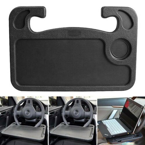Car Steering Wheel Desk Tray Laptop Food Eating Reading Writing Stand Holder