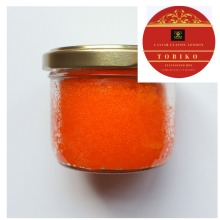 80 GR. Orange Tobiko roe/Caviar caviar.Great for sushi. FREE delivery