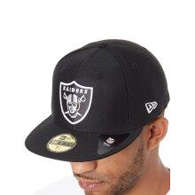 "New Era Black Hex Era 59Fifty NFL Oakland Raiders Fitted Cap - 7 1/8"""