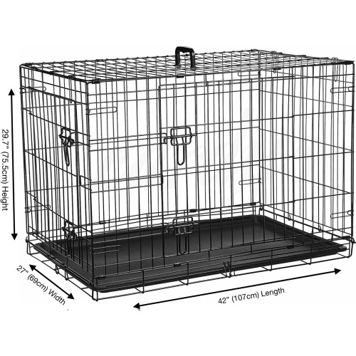 """(X Large 42"""") Cardy's Dog Crate   Puppy Pet Carrier"""