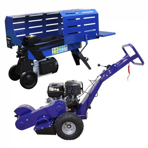 Log Splitter 5T Electric & Stump Grinder 13HP 2000W Hydraulic 3L