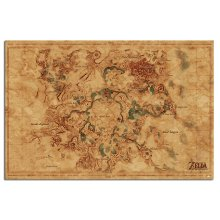 The Legend Of Zelda Breath Of The Wild Hyrule Map Poster