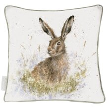 The Country Set - Into the Wild Large Feather Filled Cushion - Hare Design