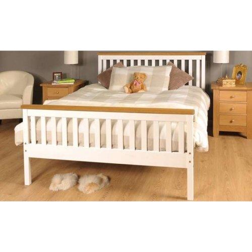 (5ft Kingsize, Caramel Bar) Comfy Living 'Talsi' Wooden Bed Frame