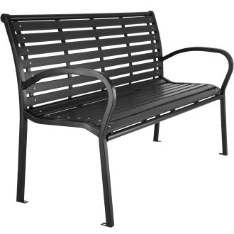 Garden bench Pino - black