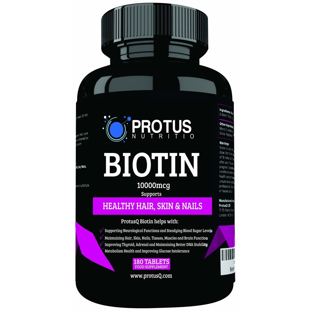 Biotin 10 000mcg For Hair Growth Supplement 180 Tablets For Men And Women Vitamin For Hair Loss And Vitamin B7 Helps For Healthy Hair Skin And On Onbuy