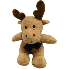Chilly Chums Light Brown Reindeer Green Scarf