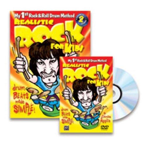 Alfred 00-39312 REALISTIC ROCK KIDS DRUM-BK&2CD&DVD