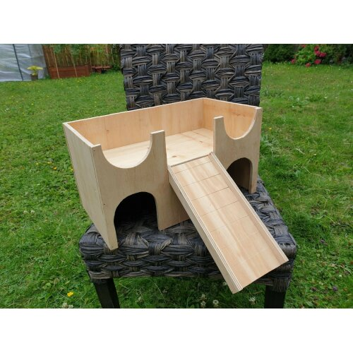 Guinea Pig House Shelter Hide Out Castle two tiered 18''x10''x10''