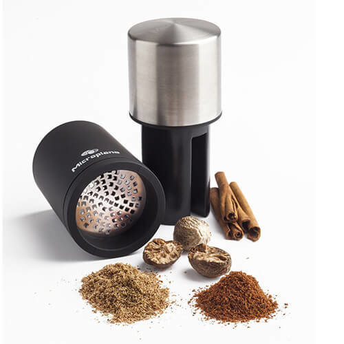 Microplane Spice Mill, Stainless Steel, Black/Silver, 5 x 5 x 13.6 cm
