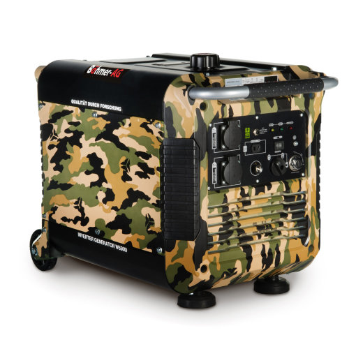 Bohmer-AG W5500i Inverter Petrol Generator Electric Key Start 3.0 kW 3.7kVA   Quiet Portable Power