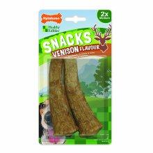 Nylabone Venison Flavoured Dog Snacks/Treats (Pack Of 2)
