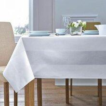 "White 100% Cotton Satin Band Tablecloth 70"" x 70"""