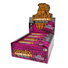 Grenade Carb Killa High Protein and Low Carb Bar, 12 x 60 g - Dark Chocolate Raspberry