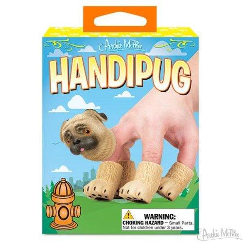 Character Goods - Archie McPhee - Finger Puppet - Handipug 12617