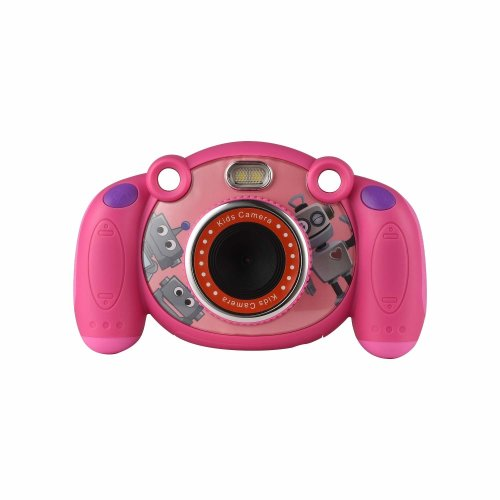 Mersoco Kids Camera, 2.0 Inches Screen 3MP Camera with LED flash light and Soft silicone protective shell supports photo mode, video mode and playback mode.