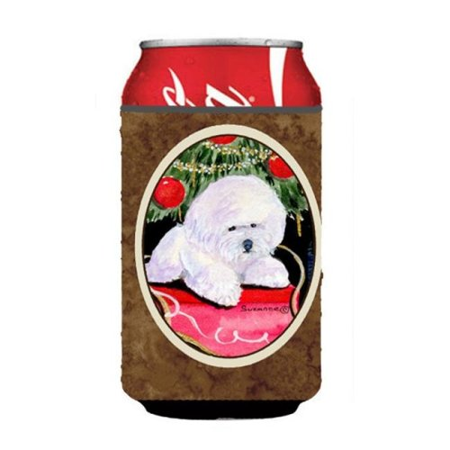 Christmas Tree With Bichon Frise Can Or Bottle  Hugger - 12 oz.