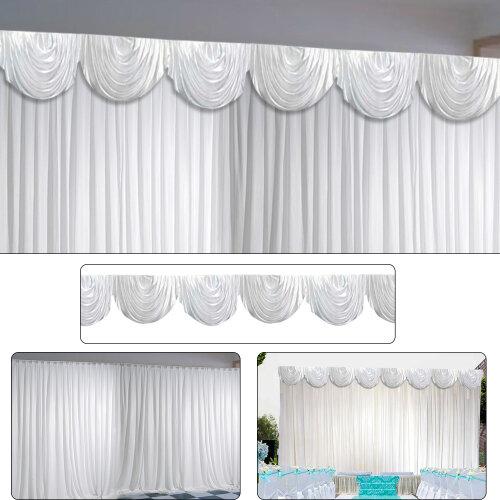 3X3M White Stage Wedding Backdrop Photography Background Drape Curtain