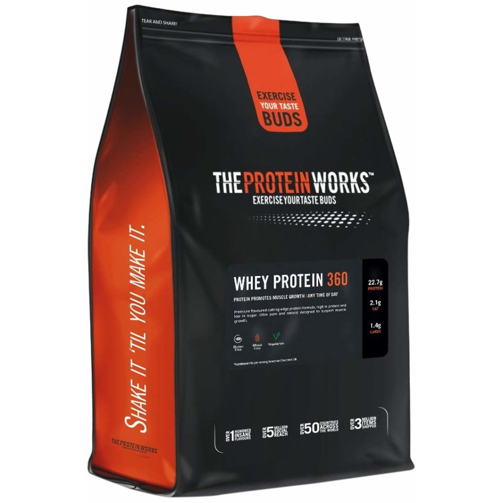 The Protein Works Whey Protein Powder, Whey 360 Protein Shake, Salted Caramel, 2.4 kg