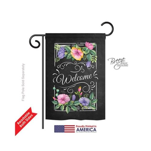 Breeze Decor 50060 Welcome Blooming Welcome 2-Sided Impression Garden Flag - 13 x 18.5 in.