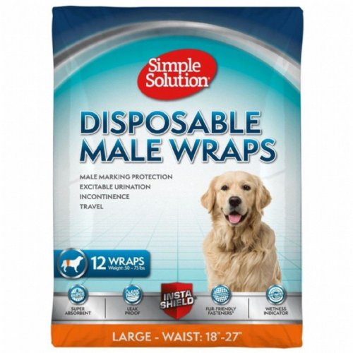 (Small, May Vary) Simple Solution Disposable Male Wrap