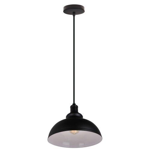 (Black+White) Pendant Light Lampshade Metal Hanging Light