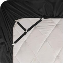 3-Way Comforter Clips 4 Pcs Elastic Bed Sheet Suspenders Fitted
