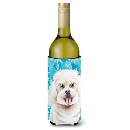 Bichon Frise Winter Wine Bottle Beverge Insulator Hugger