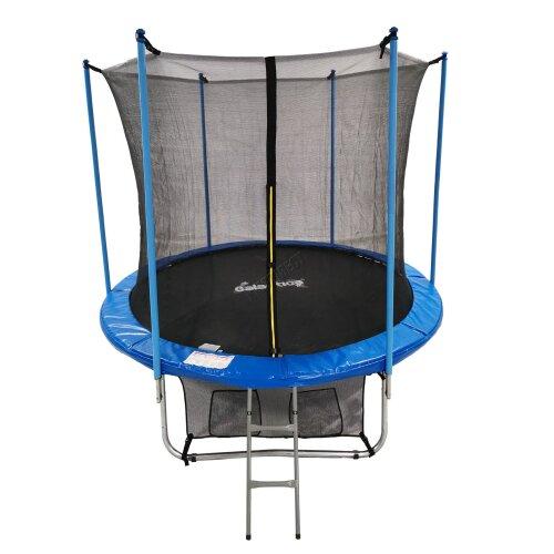 (8FT) GALACTICA Trampoline Set 8 10 12 14 FT Round Outdoor Safety Net Enclosure Ladder