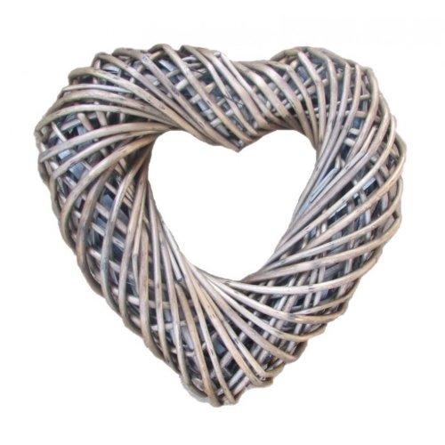 Wicker Medium Heart Shaped Wreath