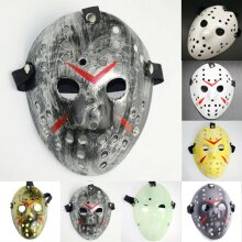 Jason Vorhees Painted Hockey Mask Friday 13th Halloween Fancy Dress